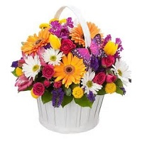 Basket of mix flowers